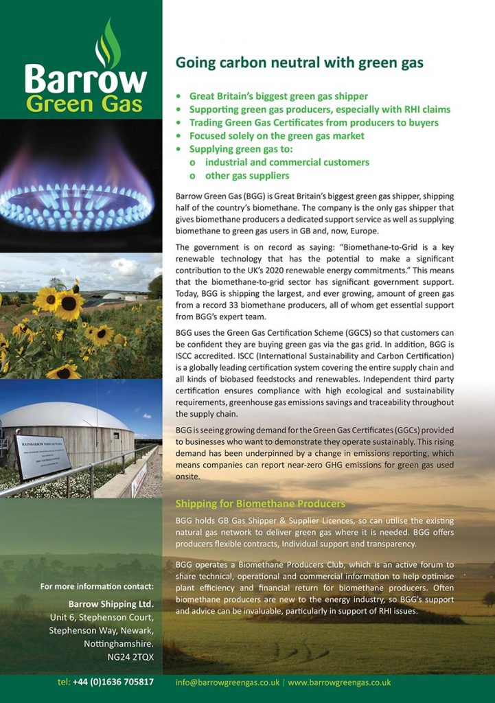 Barrow Green Gas Leaflet