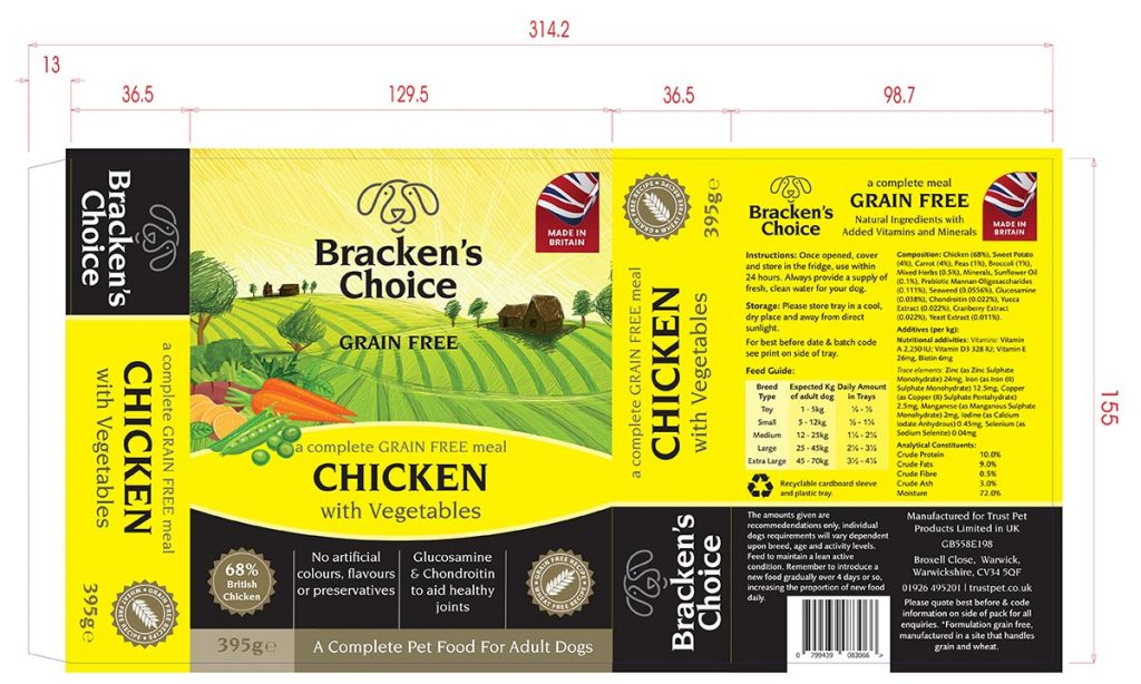 Brackens Choice Grain Free Chicken Sleeve